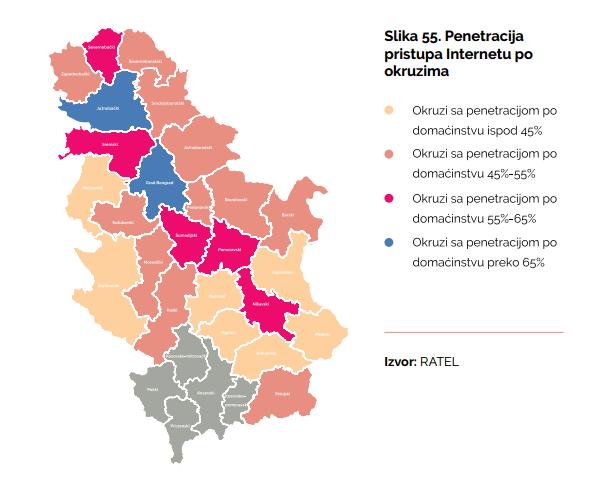 mapa srbije po okruzima Nadležnost Srbije na internetu – SHARE LAB mapa srbije po okruzima